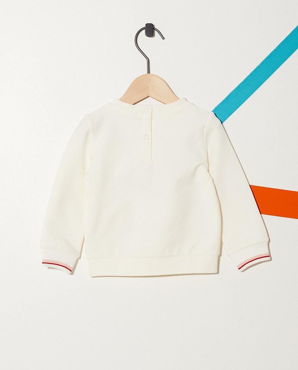 Sweater - Weiss - Sweater mit buntem Schriftzug